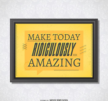 Amazing day inspiring poster - Free vector #377051