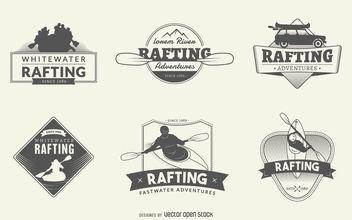 Rafting logo set - Kostenloses vector #377101