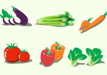 Healthy Vegetables Vector - Kostenloses vector #377261