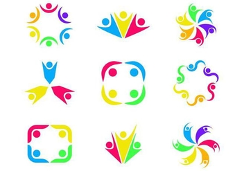 Free Working Together Logo Vector - Free vector #377371