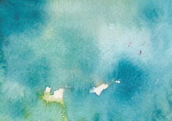 Ocean blue Watercolor Free Vector Texture - Free vector #377631