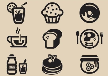 Breakfast Vector Icon - Free vector #377781