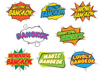 Bangkok Stickers - vector gratuit #377791