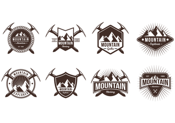 Free Mountain Badge Vectors - Free vector #378031