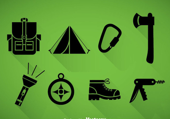 Mountaineer Black Icons - Free vector #378311