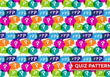 Trivia Quiz Pattern Vector - бесплатный vector #378621