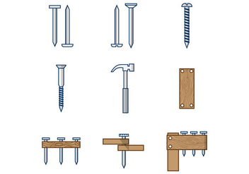 Free Nail Vectors - vector #378631 gratis