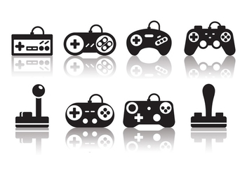 Free Minimalist Gaming Joystick Icons - Free vector #378651