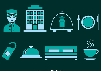 Hotel Element Icons Vector - бесплатный vector #378661