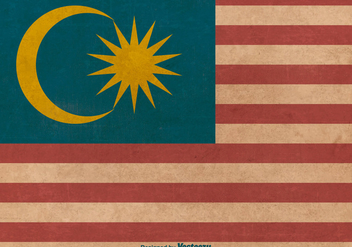 Grunge Style Flag of Malaysia - Free vector #378951