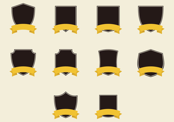 Blason Flat Icon Set - vector gratuit(e) #378991