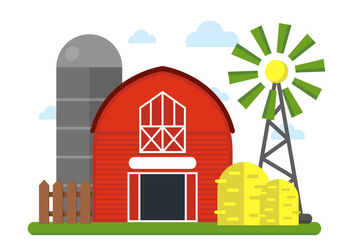 Farm Vector Illustration - Free vector #379221