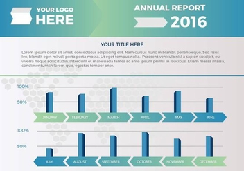 Free Annual Report Vector Presentation 2 - бесплатный vector #379271