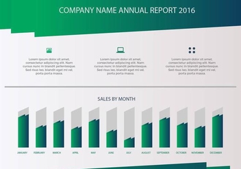 Free Annual Report Vector Presentation 3 - бесплатный vector #379311