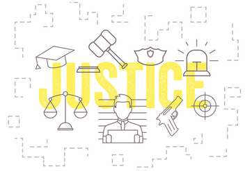 Vector Set of Justice Icons - Kostenloses vector #379371