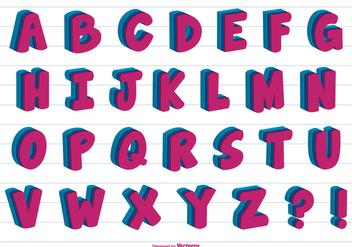 3D Vector Alphabet - Free vector #379721