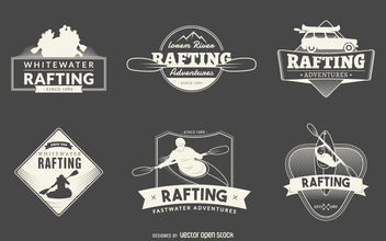 Rafting logo collection - vector gratuit #379811