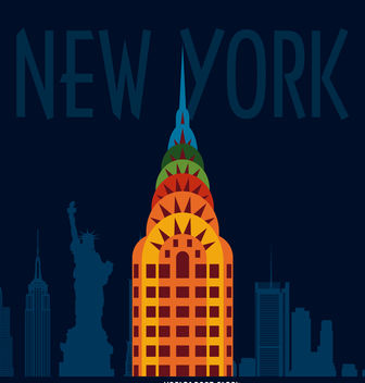 New York illustration poster - vector gratuit #379821