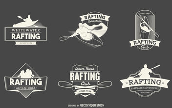 Rafting logo label collection - vector gratuit #379881