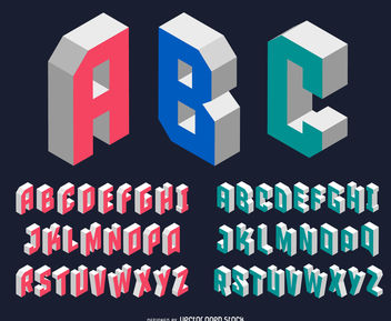 Modern isometric font - Free vector #380021
