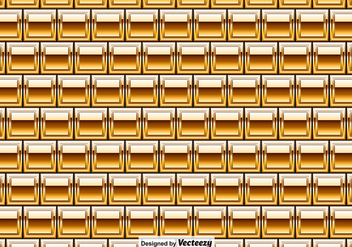 Vector Golden Bricks Seamless Pattern - Vector Elements - Kostenloses vector #380241