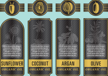 Organic Oil Labels - Free vector #380281