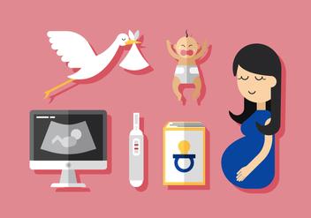 Vector Pregnant Mom - бесплатный vector #380381