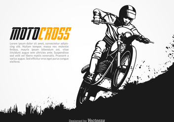 Free Vector Motocross Illustration - vector gratuit #380451