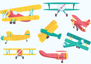 Free Biplane Vector - Free vector #380531