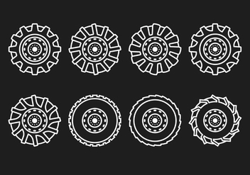 Tractor Tire Line - Kostenloses vector #380861