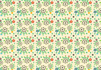 Free Growing Flower Pattern Vector - Free vector #380881