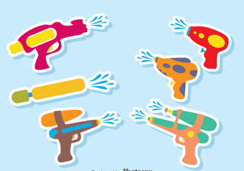 Water Gun Vector Set - Free vector #380931