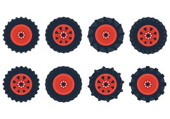 Tractor Tire Vector - Free vector #381041