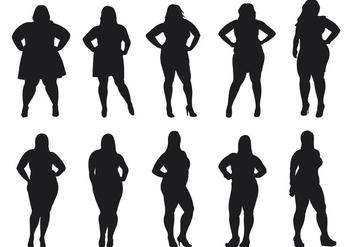 Fat Women Silhouettes Vector - Kostenloses vector #381191