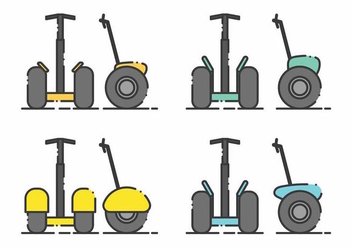 Minimalist Segway Icon Set - Free vector #381261