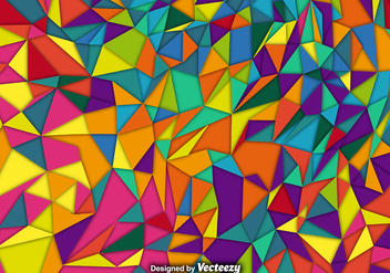 Vector Background With Colorful Polygons - Free vector #381371