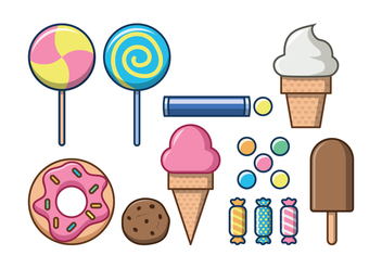Free Sweet Foods Vector Icon - vector gratuit #381421