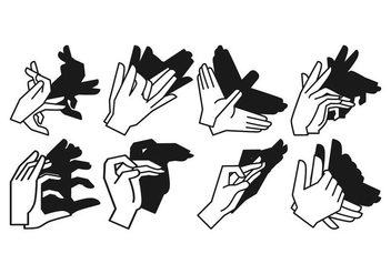 Free Shadow Hand Puppet Vector - Free vector #381471