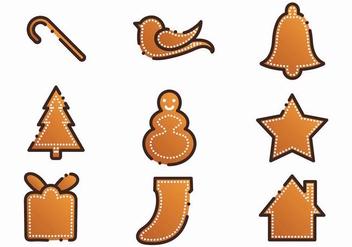Free Xmas Gingerbread Lebkuchen Set - vector #381511 gratis