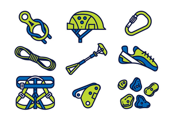 CLIMBING WALL EQUIPMENT VECTOR - Free vector #381551