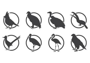Free Bird Silhoutte Logo Vector - vector gratuit #381691
