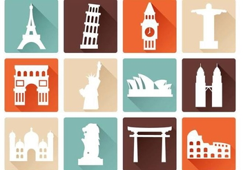 Free Landmark Icons Vector - vector gratuit #381731