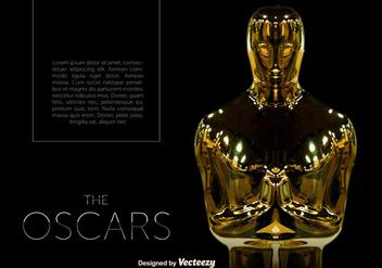 Vector Oscar Statue Template - бесплатный vector #381821