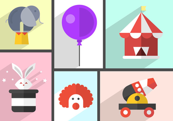 Free Circus Icons - Free vector #381901