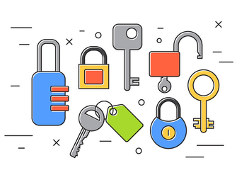 Locks And Keys - vector gratuit #382011