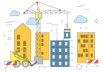 Vector Building Construction - vector gratuit #382031