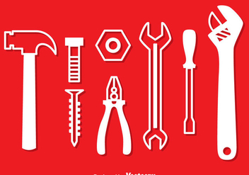 Repair Tools White Icons - vector gratuit #382161