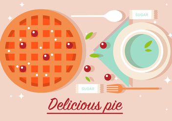 Free Delicious Pie Vector Illustration - Free vector #382521