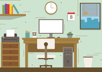Free City Office Concept Vector Illustration - Kostenloses vector #382751