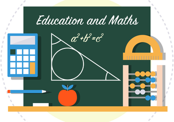 Math Back To School Vector Illustration - vector gratuit #382821